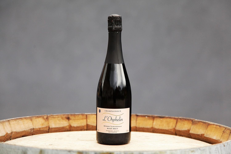 Vin mousseux BRUT Rosé, 75cl L'Orphelin